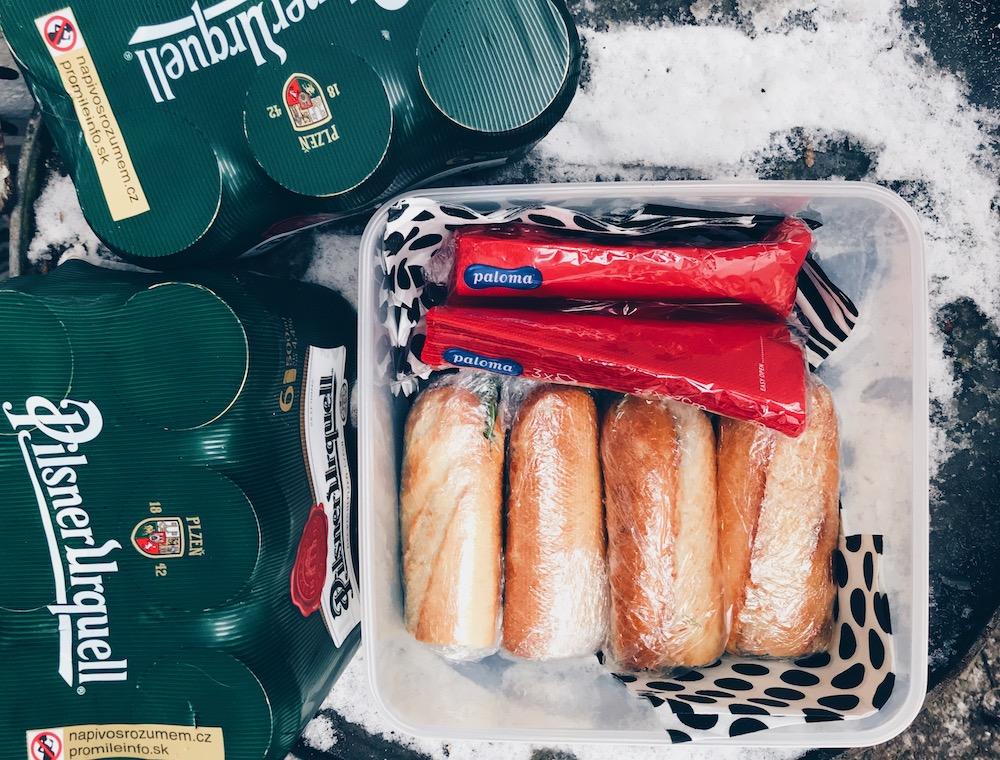 zimní stavební oběd